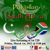 Pakistan Vs. South Africa T20 Match – Live Screening [1st March]