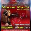 SANAM MARVI – Live in Concert [27 April]