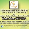 Biggest SMD Screening of Pakistan vs India Match [15 June]