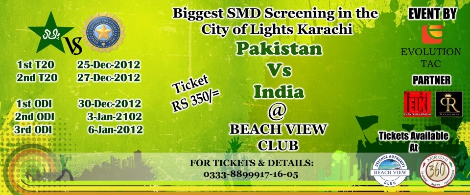 Pak vs India Screening