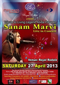SANAM MARVI - Live in Concert