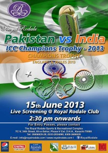 Pakistan vs India Screening