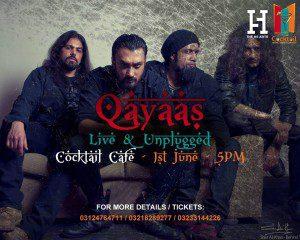 Qayaas Live at Cocktail Cafe - Eventsinkarachi.com