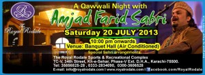 "A Qawwali Night with ""Amjad Farid Sabri"" @ Royal Rodale Club"
