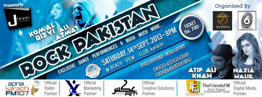 """Rock Pakistan Live in Concert """"Ali Azmat"""", """"Komal Rizvi""""."""