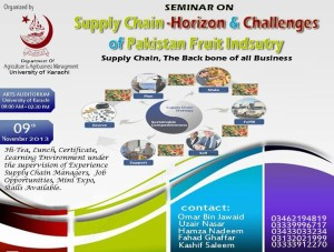 Seminar on supply chain-Horizon & challenges of Pakistan fruit Industry