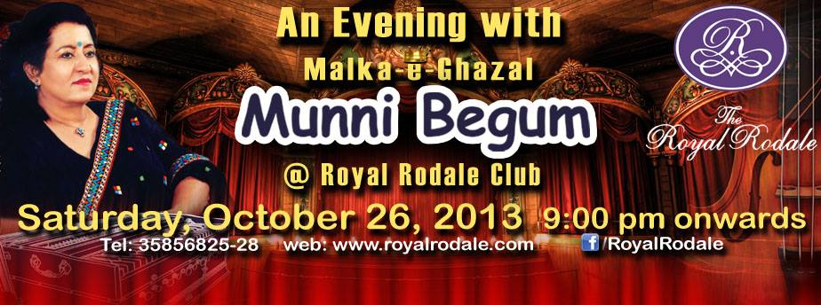 An Evening with Malka-e-Ghazal MUNNI BEGUM