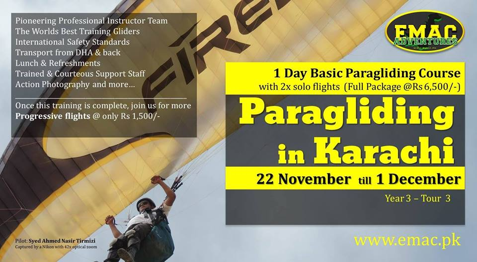 EMAC Paragliding in Karachi (2013) [20 Dec - 02 Jan]