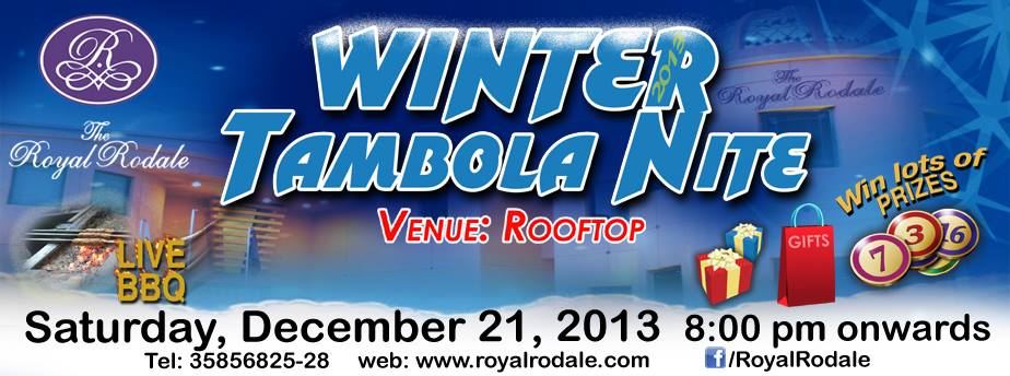 Grand Winter Tambola Nite @ Royal Rodale Club
