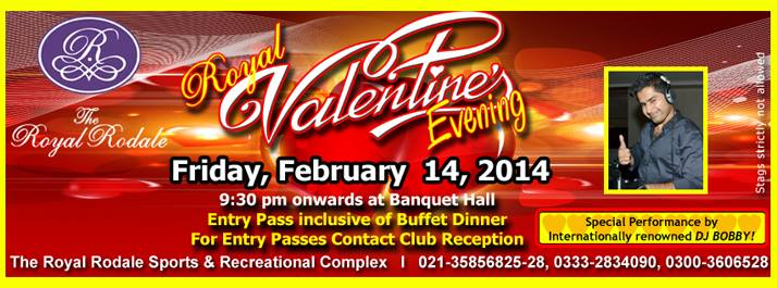 Royal Valentine's Evening @ Royal Rodale Club