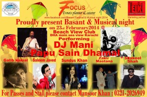 BASANT FESTIVAL & MUSICAL NIGHT 2014