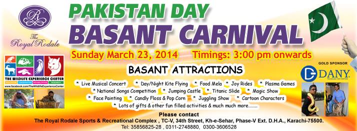Pakistan Day Basant Carnival @ Royal Rodale Club