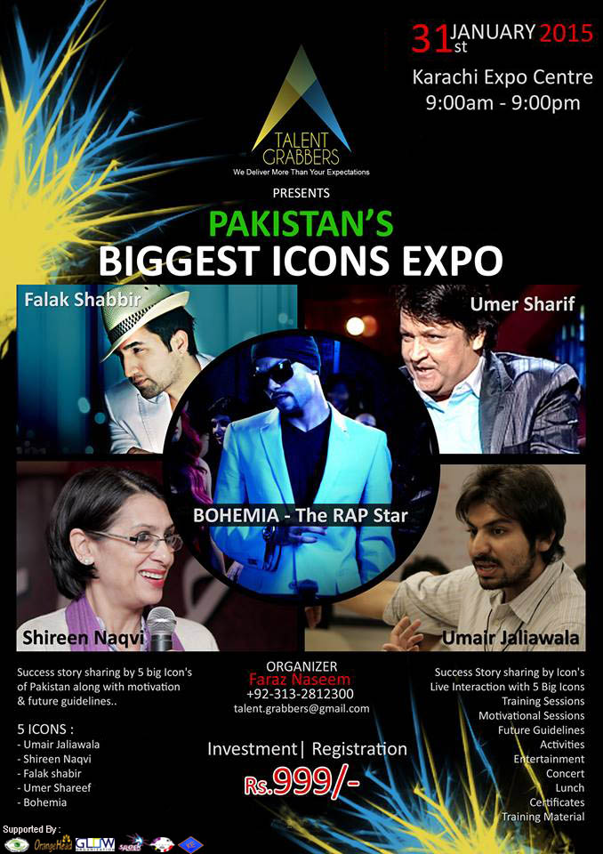 """PAKISTAN'S BIGGEST ICON'S EXPO; """"The biggest 1 day, Training Conference Of Pakistan uptill now ..."""