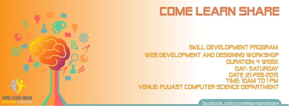 Come Learn Share Workshop on Web Designing and Developement [21 Feb]